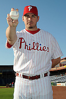 Feb 20, 2009; Clearwater, FL, USA; The Philadelphia Phillies pitcher Chad Durbin (37) during photoday at Bright House Field. Mandatory Credit: Tomasso De Rosa/ Four Seam Images