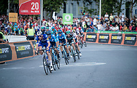 Tim Declercq (BEL/Deceuninck - Quick Step) setting the pace in the Madrid laps<br /> <br /> Stage 21: Fuenlabrada to Madrid (107km)<br /> La Vuelta 2019<br /> <br /> ©kramon