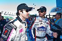 22-25 January, 2009, Daytona Beach, Florida USA.Driver/actor Patrick Dempsey (L) and Jimmy Johnson..©F.Peirce Williams 2009.F.Peirce Williams.photography