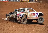 Apr 17, 2011; Surprise, AZ USA; LOORRS driver Carl Renezeder (17) during round 4 at Speedworld Off Road Park. Mandatory Credit: Mark J. Rebilas-