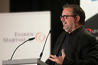 François-Xavier Souvay, President & CEO of Lumenpulse, deliver a speech to the Canadian Club of Montreal March 21, 2016.<br /> <br /> Photo : Pierre Roussel - Agence Quebec Presse