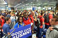 USMNT Travel to Brazil, Sunday, June 8, 2014