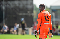 LAKE BUENA VISTA, FL - JULY 9: Andre Blake #18 of the Philadelphia Union defending goal during a game between New York City FC and Philadelphia Union at Wide World of Sports on July 9, 2020 in Lake Buena Vista, Florida.