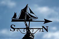 Ship weathervane. Cornwall, England. St. Ives