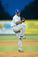 Bluefield Blue Jays relief pitcher Jose Nova (30) in action against the Burlington Royals at Burlington Athletic Stadium on June 27, 2016 in Burlington, North Carolina.  The Royals defeated the Blue Jays 9-4.  (Brian Westerholt/Four Seam Images)