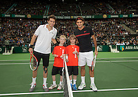 15-02-12, Netherlands,Tennis, Rotterdam, ABNAMRO WTT, Roger Federer - Nicolas Mahut..