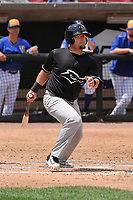 Quad Cities River Bandits first baseman Troy Sieber (21) swings during a game against the Wisconsin Timber Rattlers at Fox Cities Stadium on June 27, 2017 in Appleton, Wisconsin.  Wisconsin lost 6-5.  (Dennis Hubbard/Four Seam Images)