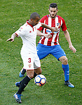 Atletico de Madrid's Koke Resurrecccion (r) and Sevilla FC's Mariano Ferreira during La Liga match. March 19,2017. (ALTERPHOTOS/Acero)