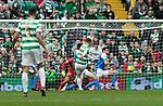 Celtic v St Johnstone …26.08.17… Celtic Park… SPFL<br />Callum McGregor scores the equaliser<br />Picture by Graeme Hart.<br />Copyright Perthshire Picture Agency<br />Tel: 01738 623350  Mobile: 07990 594431