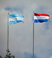8-3-09,Argentina, Buenos Aires, Daviscup  Argentina-Netherlands,  Thiemo de Bakker   Juan Ignacio Chela