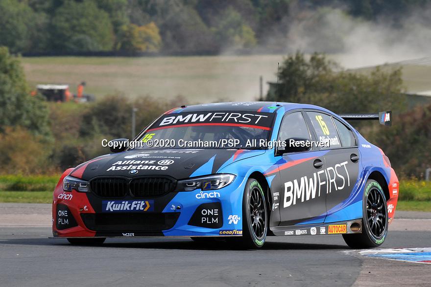Round 5 of the 2020 British Touring Car Championship. #15 Tom Oliphant. Team BMW. BMW 330i M Sport.