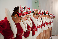 Radio City Rockettes Christmas Spectacular rehearsal