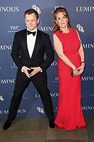 Taron Eggerton and Sarah Ferguson<br /> arriving for the LUMINOUS Gala 2019 at the Roundhouse Camden, London<br /> <br /> ©Ash Knotek  D3522 01/10/2019