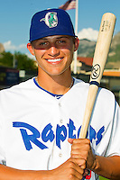 Corey Seager (46) of the Ogden Raptors prior to the game against the Orem Owlz at Lindquist Field on July 27, 2012 in Ogden, Utah.  Seager was selected in the 1st round (18th overall) of the 2012 First Year Player Draft by the Los Angeles Dodgers.   (Brian Westerholt/Four Seam Images)