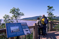 Viewpoint overlooking the Bay of Fundy Tidal Flats at the Hopewell Rocks, NB, New Brunswick, Canada