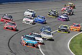2017 NASCAR Xfinity Series<br /> Service King 300<br /> Auto Club Speedway, Fontana, CA USA<br /> Saturday 25 March 2017<br /> Kyle Busch, NOS Energy Drink Toyota Camry and Joey Logano<br /> World Copyright: Nigel Kinrade/LAT Images<br /> ref: Digital Image 17FON1nk04890