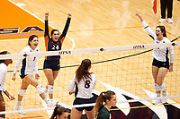 SAN ANTONIO, TX - OCTOBER 8, 2021: The University of Texas at San Antonio Roadrunners defeat the University of Alabama at Birmingham Blazers 3-0 at the Historic UTSA Convocation Center (Photo by Jeff Huehn).