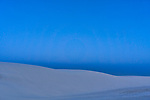 Blue hour before dawn at White Sands National Monument in New Mexico.