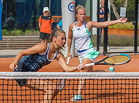Amstelveen, Netherlands, 1 August 2020, NTC, National Tennis Center, National Tennis Championships, Women's Doubles final: Quirine Lemoine (NED) (L) and Richel Hogenkamp (NED)<br /> Photo: Henk Koster/tennisimages.com