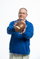 NWA Democrat-Gazette/BEN GOFF @NWABENGOFF<br /> Joel Wells, Harrison head coach, division I football coach of the year, poses for a photo Tuesday, Dec. 11, 2018, at the Northwest Arkansas Democrat-Gazette studio in Springdale.
