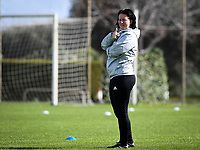 20190226 - LARNACA , CYPRUS :  Belgian assistant coach Tamara Cassimon pictured during a Matchday -1 training from The Belgian Red Flames prior to their game against the women team of Slovakia , on Tuesday 26 February 2019 at the Alpha Sports Grounds in Larnaca , Cyprus . This will be the first game in group C for Belgium during the Cyprus Womens Cup 2019 , a prestigious women soccer tournament as a preparation on the European Championship 2021 qualification duels. PHOTO SPORTPIX.BE   DAVID CATRY