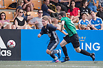 Olympique Marseille (in navy blue) vs Yau Yee League Select (in green), during their Main Tournament match, part of the HKFC Citi Soccer Sevens 2017 on 27 May 2017 at the Hong Kong Football Club, Hong Kong, China. Photo by Chris Wong / Power Sport Images