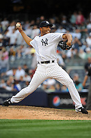 New York Yankees pitcher Mariano Rivera #42 during a game against the Tampa Bay Rays at Yankee Stadium on September 21, 2011 in Bronx, NY.  Yankees defeated Rays 4-2.  Tomasso DeRosa/Four Seam Images