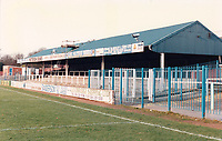 General view of Rochdale AFC, Spotland Stadium, Sandy Lane, Rochdale, Greater Manchester, pictured on 7th March 1993