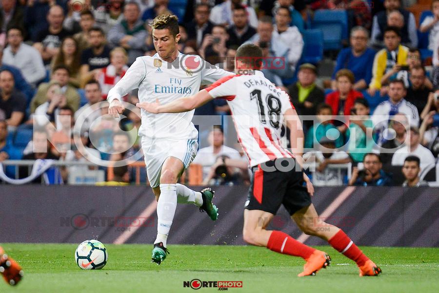 Real Madrid Cristiano Ronaldo and Athletic Club Oscar De Marcos during La Liga match between Real Madrid and Athletic Club at Santiago Bernabeu Stadium in Madrid. April 19, 2017. (ALTERPHOTOS/Borja B.Hojas) /NortePhoto.com