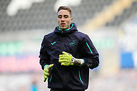 31st October 2020; Liberty Stadium, Swansea, Glamorgan, Wales; English Football League Championship Football, Swansea City versus Blackburn Rovers; Steven Benda of Swansea City during the warm up