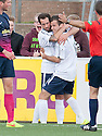 Forfar's Danny Denholm (right) is congratulated by Gavin Swankie after he scores their second goal.