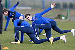 St Johnstone Training... 05.03.21<br />Scott Tanser pictured during training alongside Guy Melamed at McDiarmid Park this morning...<br />Picture by Graeme Hart.<br />Copyright Perthshire Picture Agency<br />Tel: 01738 623350  Mobile: 07990 594431
