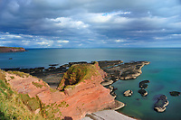 """SC - ABERDEENSHIRE<br /> Clifftrail Auchmithie - Lunan Bay starting from Arbroath and passing the """" Red Head""""<br /> <br /> Full size: 69,2 MB"""