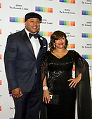 LL COOL J and his wife, Simone Smith, arrive for the formal Artist's Dinner honoring the recipients of the 40th Annual Kennedy Center Honors hosted by United States Secretary of State Rex Tillerson at the US Department of State in Washington, D.C. on Saturday, December 2, 2017. The 2017 honorees are: American dancer and choreographer Carmen de Lavallade; Cuban American singer-songwriter and actress Gloria Estefan; American hip hop artist and entertainment icon LL COOL J; American television writer and producer Norman Lear; and American musician and record producer Lionel Richie.  <br /> Credit: Ron Sachs / Pool via CNP