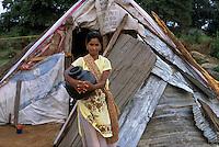 Families living in tarps after the tsunami in Sri Lanka.