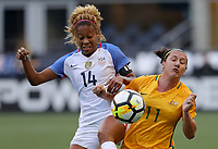 Seattle, WA - Thursday July 27, 2017: Casey Short, Lisa De Vanna during a 2017 Tournament of Nations match between the women's national teams of the United States (USA) and Australia (AUS) at CenturyLink Field.