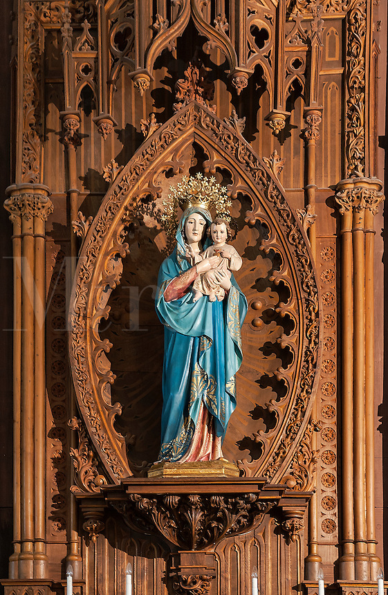 Marian statue, Parish of the Conception of Our Lady,  Madrid, Spain