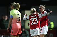 Vivianne Miedema of Arsenal scores the first goal for her team and celebrates during Arsenal Women vs Manchester City Women, FA Women's Continental League Cup Football at Meadow Park on 29th January 2020