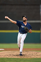 Lakeland Flying Tigers pitcher Ted Stuka (24) during a game against the Jupiter Hammerheads on July 30, 2021 at Joker Marchant Stadium in Lakeland, Florida.  (Mike Janes/Four Seam Images)