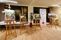 Les quatre tableaux finis.<br /> Galerie du rond point du Chambon