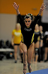 Towson University's Kacy Catanazaro competes on the vault during the Shelli Calloway Memorial Gymnastics Invitational at Towson University in Towson, Maryland.