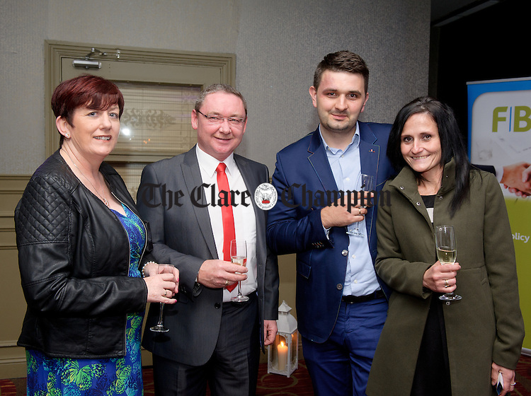 Eileen Deloughrey, Greg Buezyl and Barbara Kander Buezyl of Trump International Doonbeg at the FBD Clare Business Excellence Awards ceremony in Treacy's West County hotel. Photograph by John Kelly.