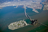 aerial photograph Treasure Island, Yerba Buena island, San Francisco, California