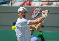 London, England, 7 th July, 2017, Tennis,  Wimbledon, Steve Johnson (USA)<br /> Photo: Henk Koster/tennisimages.com