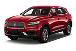 2020 Lincoln Nautilus Base 5 Door SUV Angular Front automotive stock photos of front three quarter view