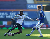 9th January 2021; Goodison Park, Liverpool, Merseyside, England; English FA Cup Football, Everton versus Rotherham United; Matthew Olosunde of Rotherham United takes on Anthony Gordon of Everton