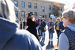 Mary Bennett leads the Carson City Ghost Walk on the historical west side of the city Saturday, Oct. 21, 2017.<br /> Photo by Candice Nyando/Nevada Momentum