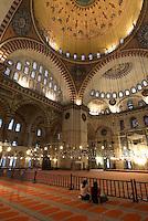 Türkei, Süleymanye Camii (Moschee) in Istanbul, erbaut 1550/1557 von Sinan, Unesco-Weltkulturerbe