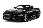 2021 Jaguar F-Type - 2 Door Convertible Angular Front automotive stock photos of front three quarter view