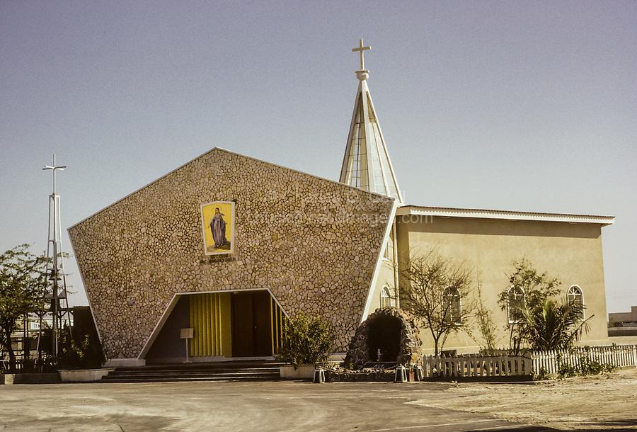 Dubai 1972, United Arab Emirates.  Catholic Church.